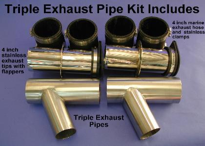 TripleExhaustPipes