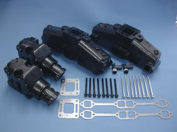 5 Inch Exhaust Pipe >> MERCRUISER V8 MANIFOLD RISER KIT 1978-82 77234A7 77235A8 76351A2